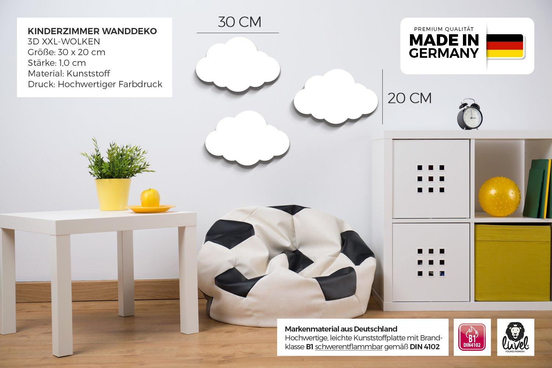 Full Size of Kinderzimmer Wanddeko Luvel M6 3er Set Xxl Dream Wolken Mit 3d Effekt Als Regale Regal Weiß Küche Sofa Kinderzimmer Kinderzimmer Wanddeko