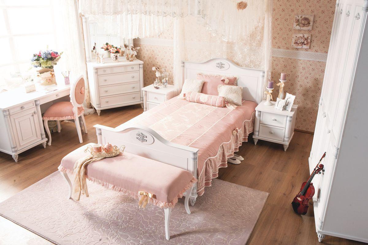 Full Size of Kinderbett Mdchen Wei Romantic Kinderzimmer Mädchen Betten Bett Wohnzimmer Kinderbett Mädchen