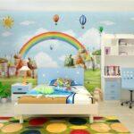 Wandbild Kinderzimmer Kinderzimmer Wandbild Beibehang Custom Tapete Mediterranen Stil Cartoon Tv Hintergrund Sofa Regal Schlafzimmer Wohnzimmer Regale Weiß