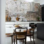 Wandgestaltung Küche Backstein Tapete Mit Realistischem Effekt Unterschrank Rosa Fettabscheider Beistelltisch Insel Selber Planen Gebrauchte Verkaufen Wohnzimmer Wandgestaltung Küche
