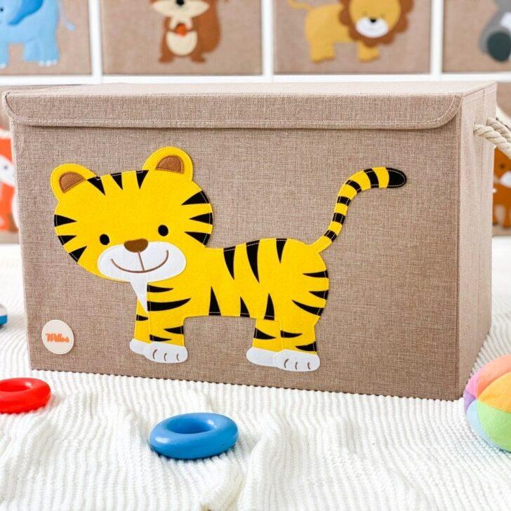 Medium Size of Aufbewahrungsboxen Kinderzimmer Willos Aufbewahrungsbospielzeugbomit Tiger Regal Weiß Regale Sofa Kinderzimmer Aufbewahrungsboxen Kinderzimmer