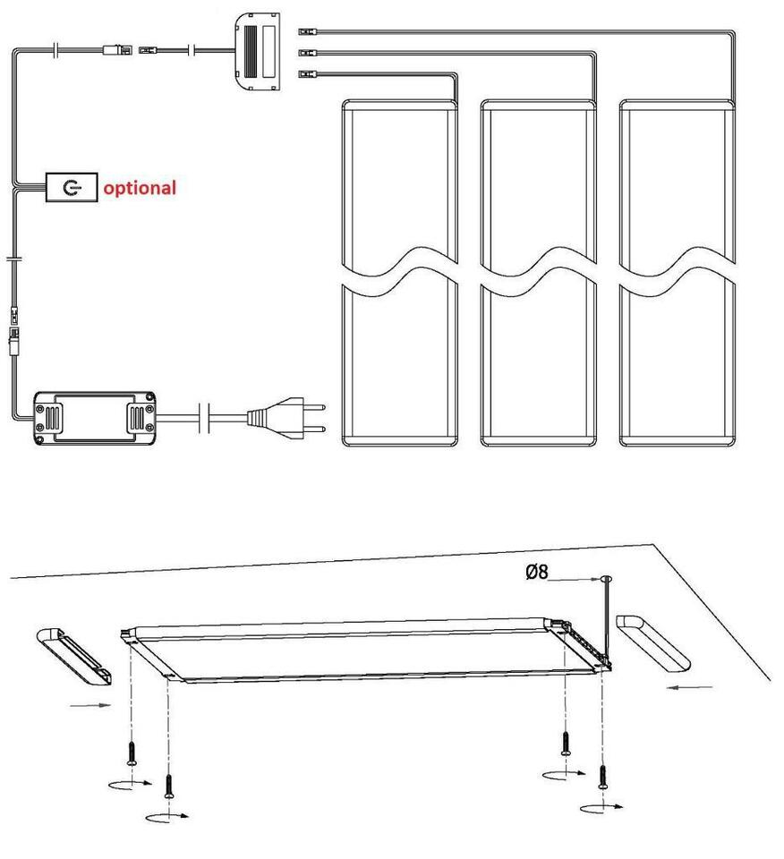 Full Size of Led Unterbauleuchte Kchenleuchte Panel Wohnzimmer Küchenleuchte