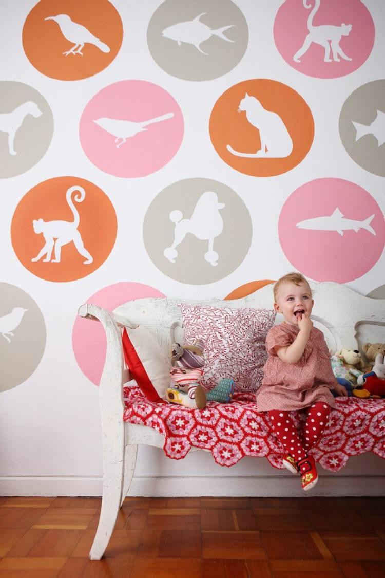 Full Size of Wandschablonen Kinderzimmer Zum Ausdrucken 34 Vorlagen Mit Tollen Motiven Regal Sofa Weiß Regale Kinderzimmer Wandschablonen Kinderzimmer