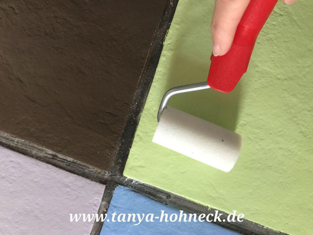 Large Size of Fliesen Streichen Autentico Chalk Paint Kreidefarbe Und Bodenfliesen Bad Küche Wohnzimmer Bodenfliesen Streichen
