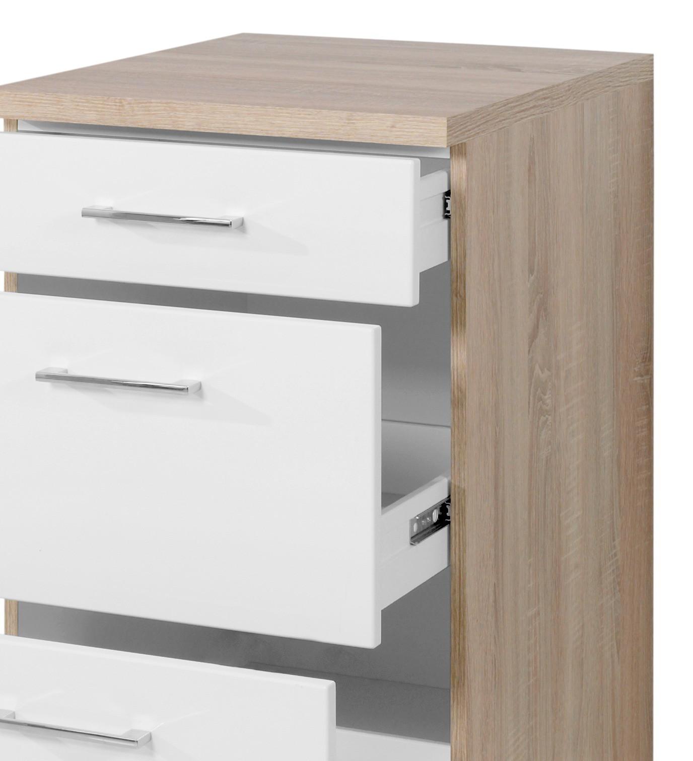 Full Size of Küchenunterschrank Kchen Unterschrank Lissabon 3 Schubladen 50 Cm Breit Wohnzimmer Küchenunterschrank