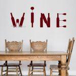 Küchentapeten Wohnzimmer Küchentapeten Weinflasche Vinyl Kunst Wandtattoo Bar Alkohol Restaurant