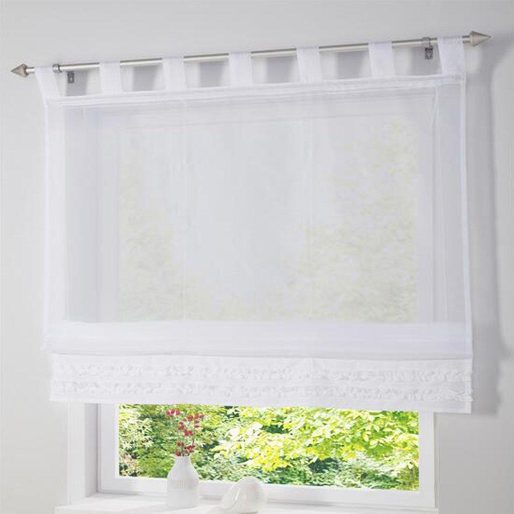 Full Size of Gardinen Küchenfenster Amazonde Simpvale 1 Stck Gardine Raffrollo Schlaufenschal Wohnzimmer Küche Für Schlafzimmer Fenster Die Scheibengardinen Wohnzimmer Gardinen Küchenfenster