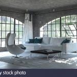 Modern Einfarbig Grau Wohnzimmer Einrichtung Mit Einem Einfachen Deckenstrahler Großes Bild Teppich Deckenlampen Pendelleuchte Deckenleuchte Schlafzimmer Wohnzimmer Wohnzimmer Einrichten Modern