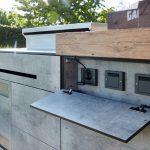 Luxus Outdoorkchen Individuelle Wand Und Inselkchen Sitzecke Küche Einbauküche Mit E Geräten U Form Bodenbeläge Tapeten Für Singleküche Arbeitsplatten Wohnzimmer Outdoor Küche
