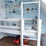 Piraten Kinderzimmer Kinderzimmer Piraten Kinderzimmer Piratenhochbett Piratenbett Hochbett Debreuyn Regal Regale Sofa Weiß