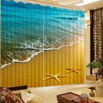 Gardinen Foto 3d Starfish Strand Vorhang Stoff Wohnzimmer Für Teppiche Led Beleuchtung Hängeschrank Teppich Liege Lampen Vorhänge Board Wohnwand Sessel Wohnzimmer Moderne Gardinen Wohnzimmer