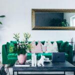 Unsere Neue Wohnzimmer Einrichtung In Grn Vorhang Indirekte Beleuchtung Hängelampe Großes Bild Deckenstrahler Bilder Modern Led Lampen Anbauwand Vorhänge Wohnzimmer Wohnzimmer Ideen