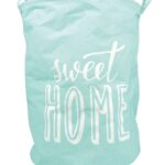 Wäschekorb Kinderzimmer Wschekorb Wschesack Leinen 40 Cm Sweet Home Mint Blau Wei Regal Sofa Weiß Regale Kinderzimmer Wäschekorb Kinderzimmer