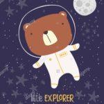 Se Br Im Raumanzug Auf Sternenhimmel Als Hintergrund Und Mond Regal Kinderzimmer Sofa Weiß Regale Kinderzimmer Sternenhimmel Kinderzimmer