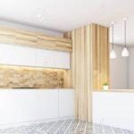Küchenwand Wohnzimmer Küchenwand Hexagon Muster Kchenwand Mit Weien Arbeitsplatten