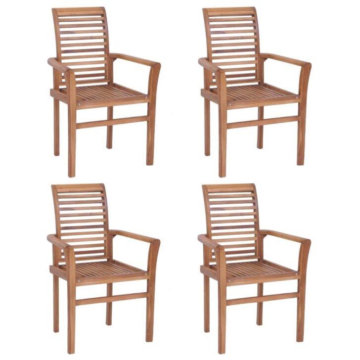 Medium Size of Vidaxl Esstischsthle 4 Stk Stapelbar Teak M Real Esstischstühle Esstische Esstischstühle