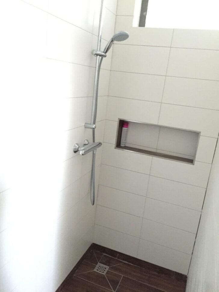 Medium Size of Ebenerdige Dusche Kosten Duschablage Unser Ablagefach In Der Gemauerten Barrierefreie Bodengleiche Fliesen Einbauen Badezimmer Begehbare Glastür Siphon Dusche Ebenerdige Dusche Kosten