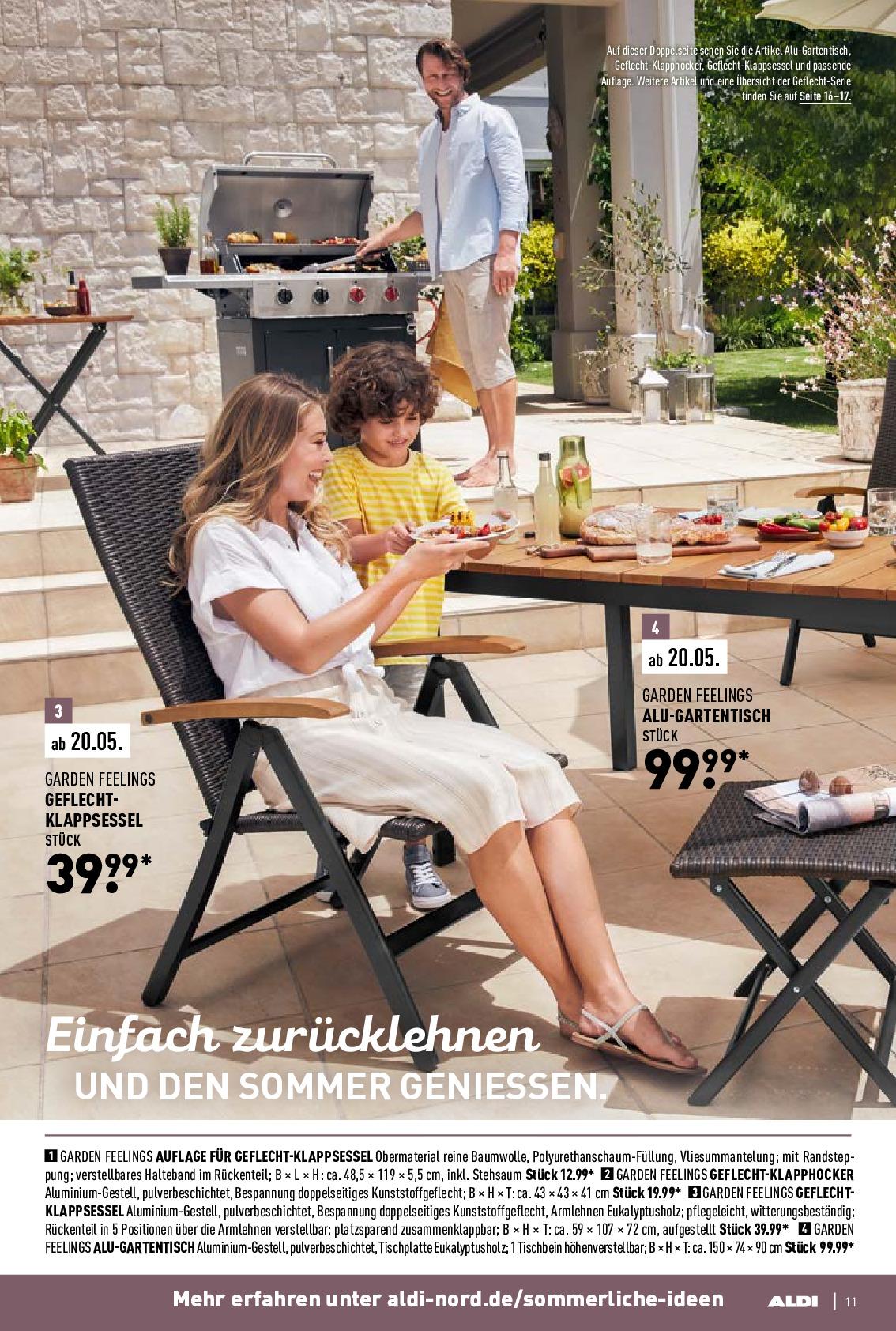 Full Size of Gartentisch Nord Prospekt Angebote Ab 06042020 Bis 11042020 Seite Relaxsessel Garten Wohnzimmer Gartentisch Aldi