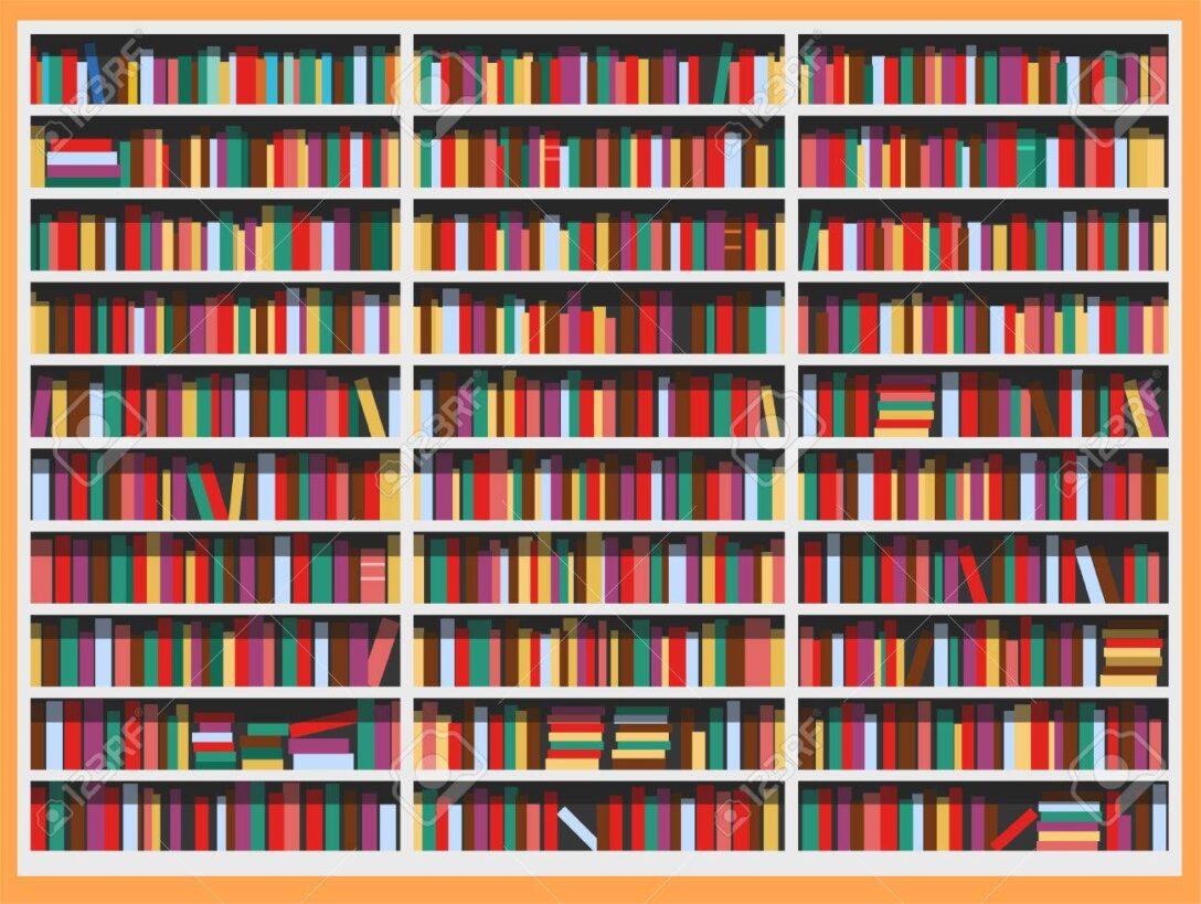 Large Size of Bücher Regal Bcherregal Voller Bcher Vektor Illustration Cartoon Lizenzfrei Weiß Hochglanz Küchen Günstig Massivholz Modular Getränkekisten Auf Maß Usm Regal Bücher Regal