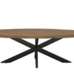 Ovaler Esstisch Esstische Wood Esstisch 240x100 Cm Tischplatte Oval Aus Mangoholz 6 Und X Runde Esstische Groß Holz Shabby Chic Designer Lampen Glas Ausziehbar Modern Eiche Ovaler