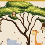 Wandtattoo Kinderzimmer Tiere Safari Dschungel Babyzimmer Wandtattoos Wohnzimmer Bad Regal Weiß Sprüche Küche Regale Schlafzimmer Badezimmer Kinderzimmer Wandtattoo Kinderzimmer Tiere