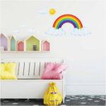 Kinderzimmer Wanddeko Kinderzimmer Kinderzimmer Wanddeko Sonne Himmel Sterne Regale Regal Küche Sofa Weiß