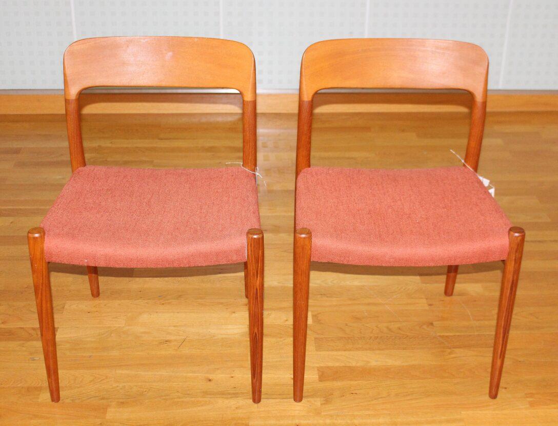 Large Size of Esstischstühle Zwei Esstischsthle Sthle Modell No 75 In Teak Esstische Esstischstühle