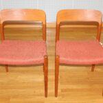 Esstischstühle Esstische Esstischstühle Zwei Esstischsthle Sthle Modell No 75 In Teak