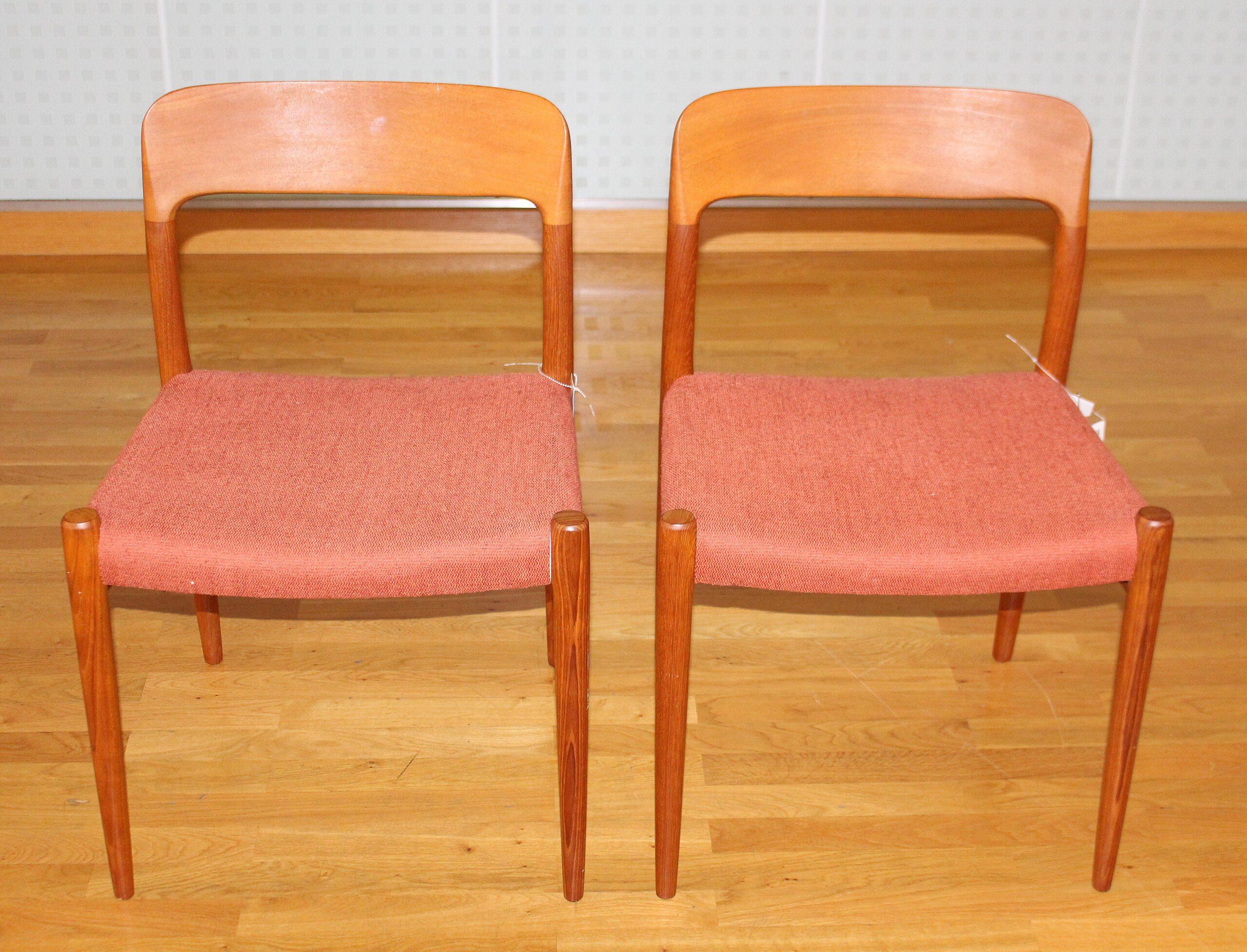 Full Size of Esstischstühle Zwei Esstischsthle Sthle Modell No 75 In Teak Esstische Esstischstühle