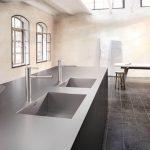 Sple Und Arbeitsplatte Aus Einem Guss Material Küche Ohne Geräte Deckenleuchte Mit Geräten Aluminium Verbundplatte Industrie Ikea Kosten Waschbecken Wohnzimmer Waschbecken Küche