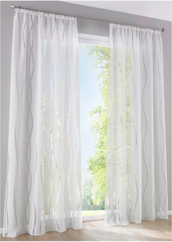 Medium Size of Bonprix Gardinen Gardine In Zeitlosem Design Wei Für Küche Fenster Scheibengardinen Die Schlafzimmer Wohnzimmer Betten Wohnzimmer Bonprix Gardinen