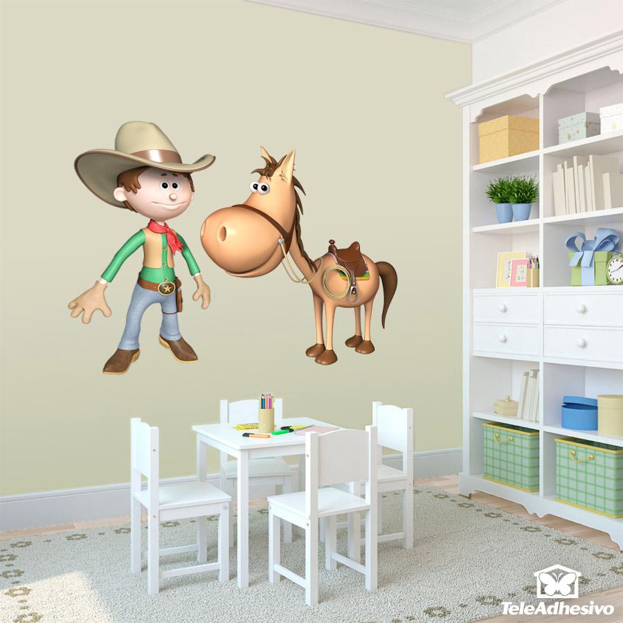 Full Size of Kinderzimmer Pferd Wandtattoo Cowboy Und Sein Regal Regale Sofa Weiß Kinderzimmer Kinderzimmer Pferd