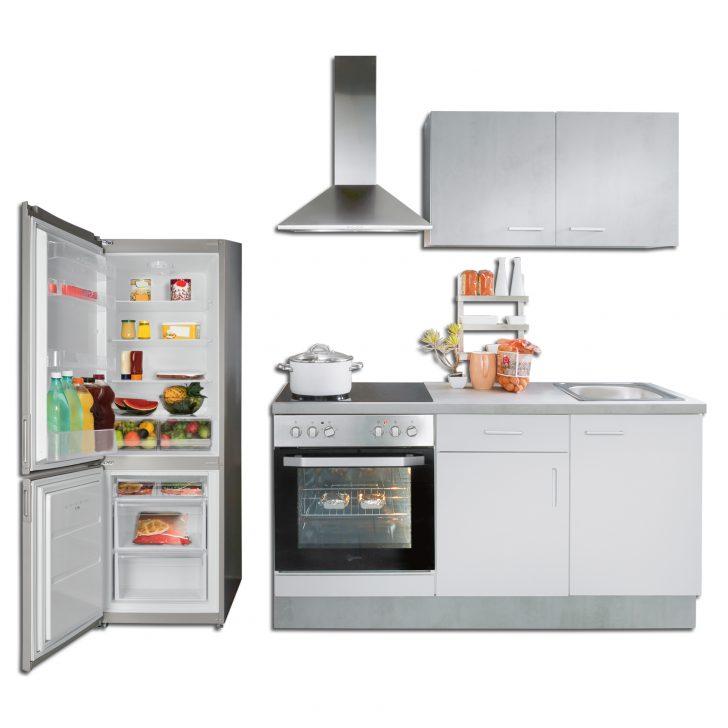 Medium Size of Roller Küchen Mini Kche Wei Beton Optik Mit E Gerten 160 Cm Online Regale Regal Wohnzimmer Roller Küchen