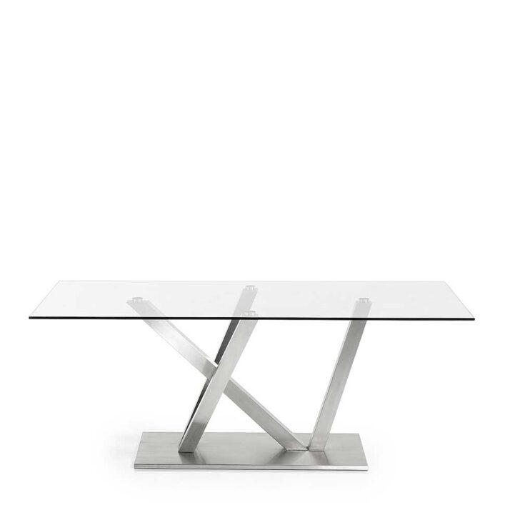 Medium Size of Design Esstisch Aus Glas Edelstahl Online Kaufen Glastrennwand Dusche Designer Esstische Quadratisch Mit 4 Stühlen Günstig Oval Weiß Bank 120x80 Rund Esstische Glas Esstisch