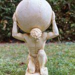 Xl Atlas Titan Weltkugel Skulptur Figur Statue Garten Haus Antik Spielhaus Kunststoff Feuerstelle Pavillon Schaukelstuhl Loungemöbel Holz Liegestuhl Wohnzimmer Skulptur Garten