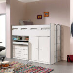 Hochbett Kinderzimmer Kinderzimmer Hochbett Kinderzimmer Kermita In Wei Mit Schreibtisch Und Schrank Regal Weiß Regale Sofa
