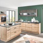 Küchen Wohnzimmer Eichenholz Kche Mit Schwarzbeton Elementen Zeitloses Design Küchen Regal