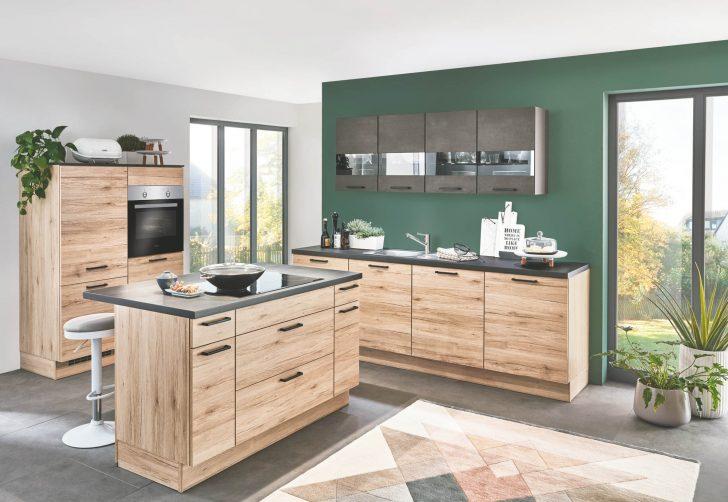 Medium Size of Eichenholz Kche Mit Schwarzbeton Elementen Zeitloses Design Küchen Regal Wohnzimmer Küchen