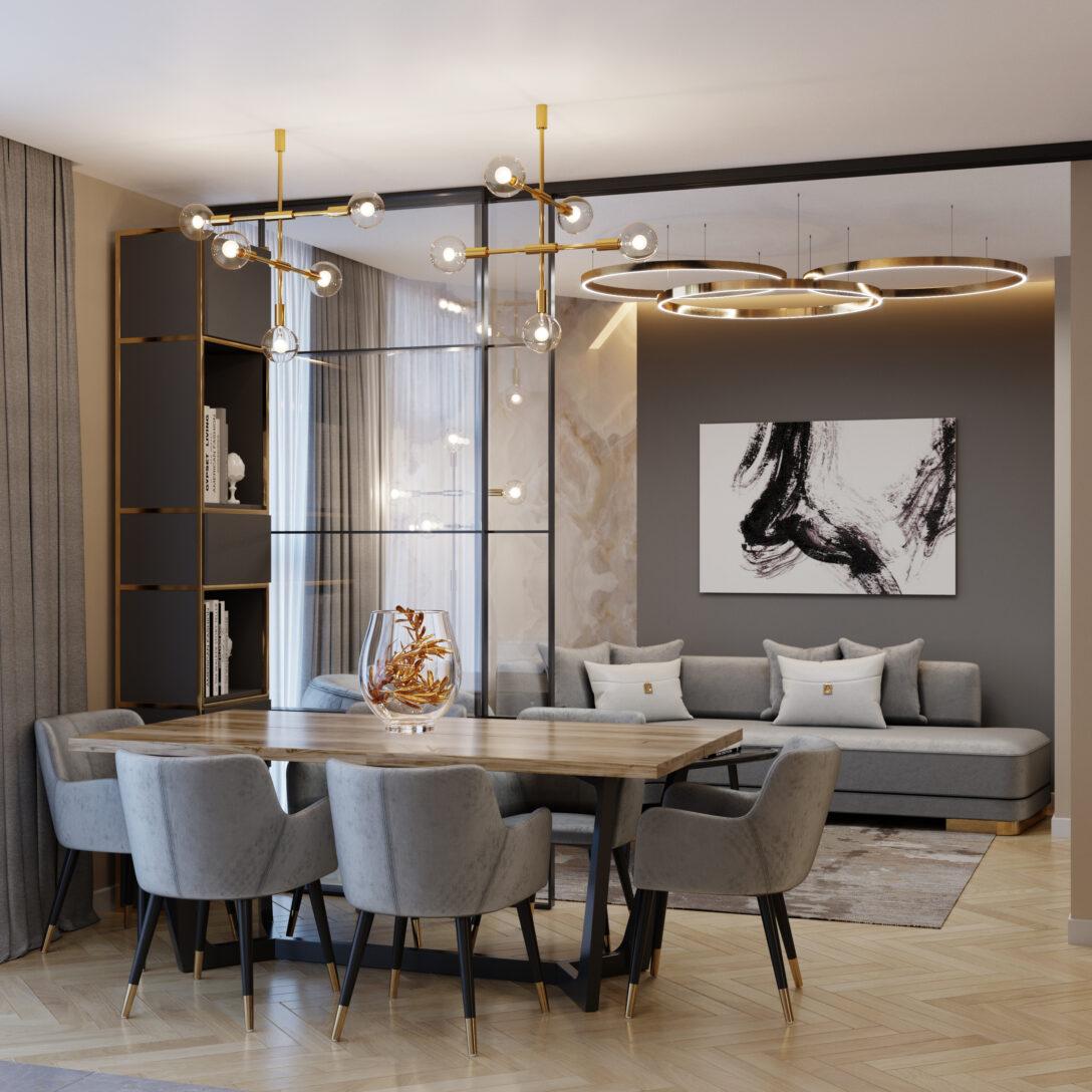 Large Size of Wohnzimmer Modern Moderne 3d Visualisierung Und Design Kamin Deko Dekoration Sofa Kleines Sideboard Beleuchtung Vorhänge Hängelampe Schrankwand Gardine Wohnzimmer Wohnzimmer Modern
