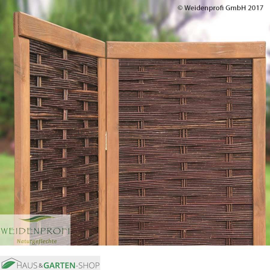Full Size of Paravent Terrasse Weidengeflecht 2 4teiliger Sichtschutz Garten Wohnzimmer Paravent Terrasse