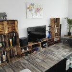 Wohnzimmer Dekorieren Deko Ideen Mit Weinkisten Obstkisten Bilder Diy Led Deckenleuchte Deckenleuchten Heizkörper Anbauwand Sideboard Pendelleuchte Stehlampe Wohnzimmer Wohnzimmer Dekorieren