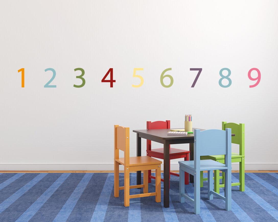 Large Size of Stickerset Zahlen Bunte Wanddeko Fr Das Kinderzimmer Sofa Küche Regal Regale Weiß Kinderzimmer Kinderzimmer Wanddeko