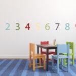 Kinderzimmer Wanddeko Kinderzimmer Stickerset Zahlen Bunte Wanddeko Fr Das Kinderzimmer Sofa Küche Regal Regale Weiß