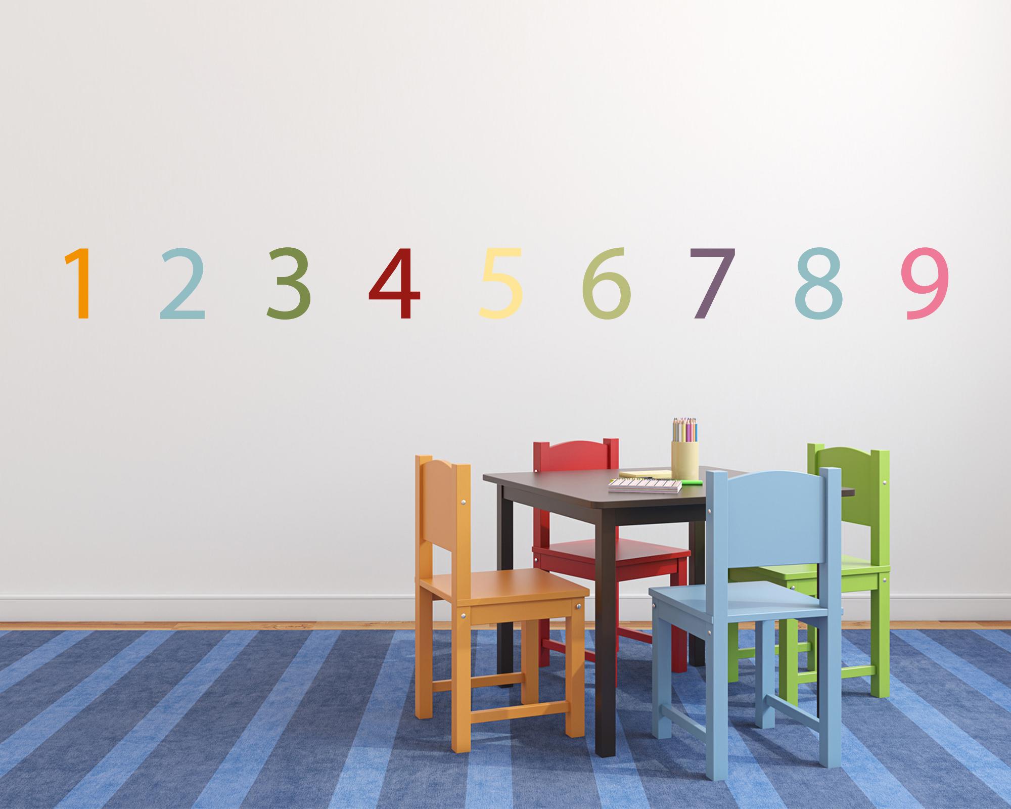 Full Size of Stickerset Zahlen Bunte Wanddeko Fr Das Kinderzimmer Sofa Küche Regal Regale Weiß Kinderzimmer Kinderzimmer Wanddeko