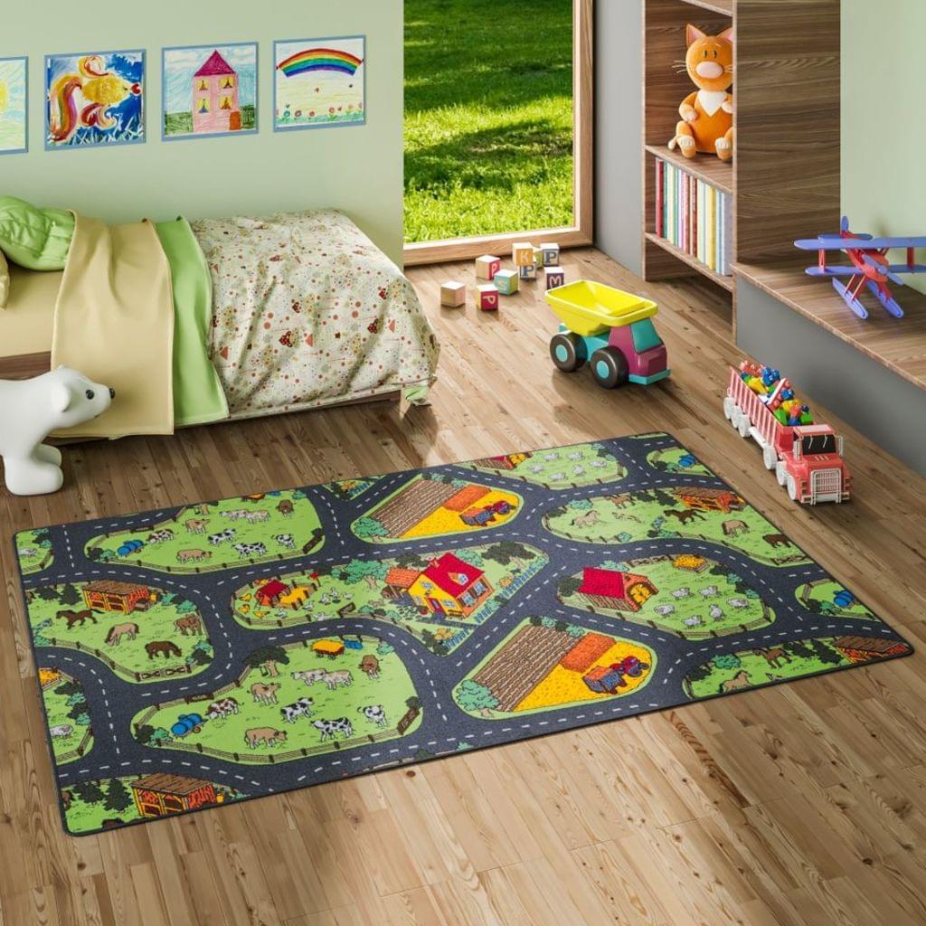 Full Size of Teppichboden Kinderzimmer Spiel Teppich Bauernhof Grn Sofa Regal Weiß Regale Kinderzimmer Teppichboden Kinderzimmer