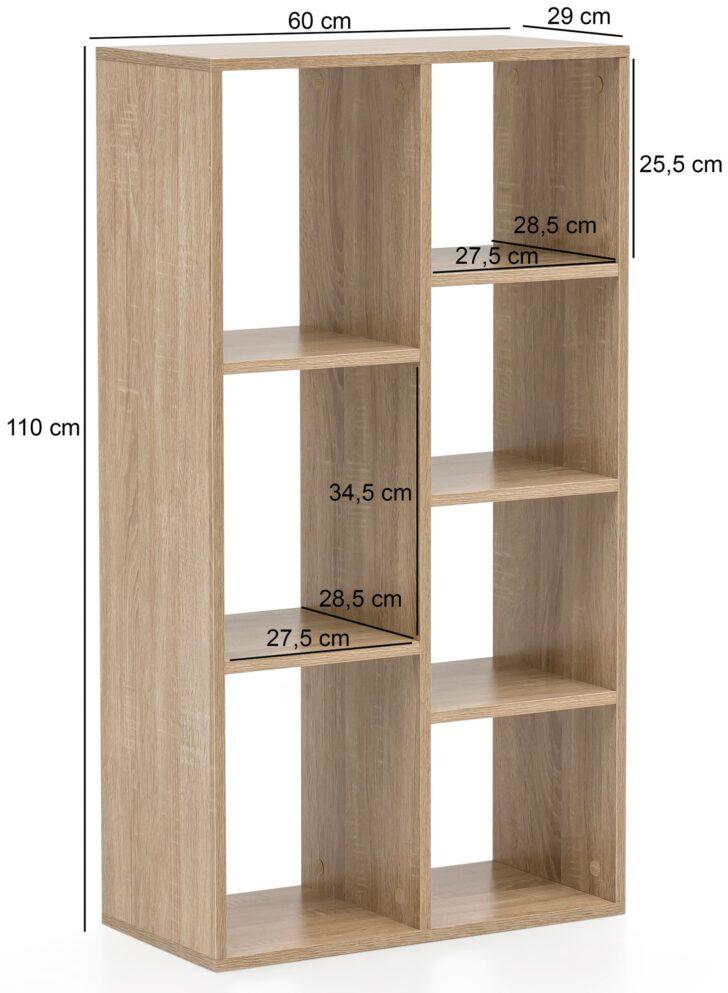 Medium Size of Regal Hoch Wohnling Bcherregal Wl5907 Sonoma 60x110x29cm Standregal 7 Für Getränkekisten Schuh Glasböden Tv Regale Weiß Hochschrank Küche Kleiderschrank Regal Regal Hoch