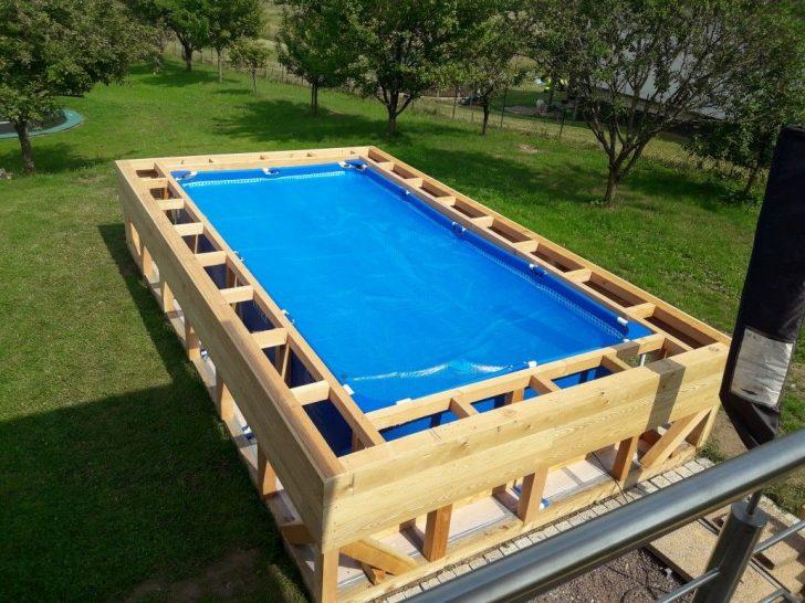 Medium Size of Gartenpool Rechteckig Goed Idee Diy Schwimmbad Wohnzimmer Gartenpool Rechteckig