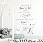Wandtattoo Babyzimmer Spruch Einhorn Zitat Schmetterlinge Regal Kinderzimmer Sofa Regale Weiß Wanddeko Küche Kinderzimmer Kinderzimmer Wanddeko