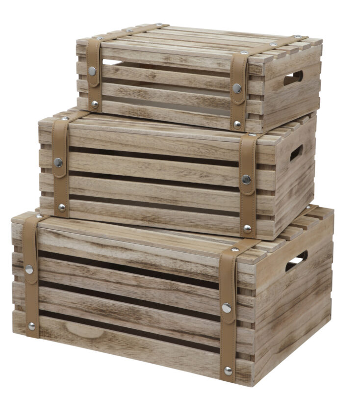 Medium Size of 3er Set Deko Holzkiste 44cm Obstkiste Weinkiste Holz Kiste Regal 25 Cm Tief Schräge Kleiderschrank Zum Aufhängen Mit Schubladen String Regale Metall Regal Regal Kisten