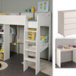 Hochbetten Kinderzimmer Kinderzimmer Kinderzimmer Set 3 Tlg Inkl 90x200 Hochbett Regale Regal Weiß Sofa